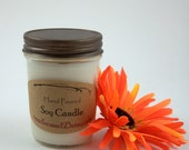 Wood Wick Soy Candle, Fall Magic Fragrance, clean burning, white candle, fragrant candle, mason jar candle, rustic lid