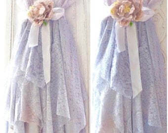 Romantic lace slip dress, Bohemian dresses Boho clothes, Serenity blue, shabby cottage chic vintage slip, French dresses True rebel clothing