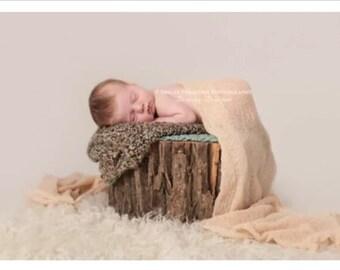 STRETCH WRAP- CREME Color--Newborn Photo Prop- photography