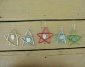 One Washington Beach Glass Star Ornament