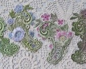 Paisley Lace Applique Hand Dyed Venise Embellishment Crazy Quilt Supply