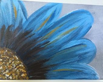 Original Acrylic Flower Painting on Canvas