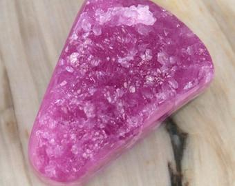 Cobalto Calcite/Dolomite Natural Fuchsia Drusy Cabochon