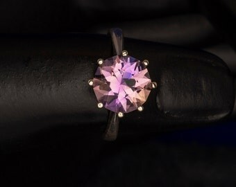 10MM Round 3 Carat Blended Ametrine Unique Engagement ring, Birthstone Ring, Alternative Engagement, Gemstone Ring