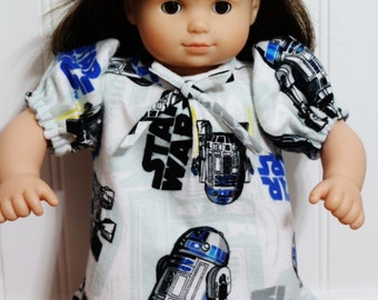 """STAR WARS R2-D2 Nightgown Fits 15"""" Dolls - Proudly Made in America"""