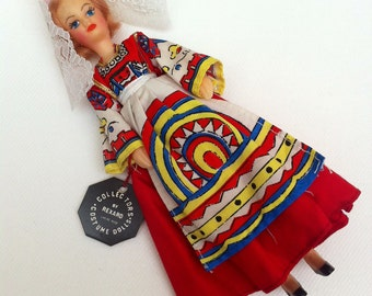 Boxed Miss Sweden 1960s Vintage Rexard National Costume Miss World Doll