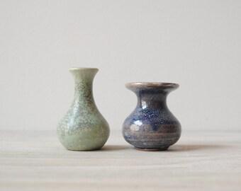 Miniature Vintage Vases Pair