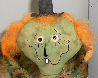 GiLdA ThE WiTcH DoLL HaLLoWeeN Handmade Primitive Fall/Halloween Decoration ONE OF a KIND with tag Hafair