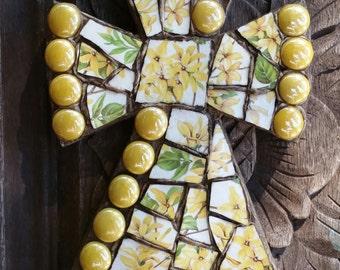Happy Yellow Forsythia Mosaic Cross