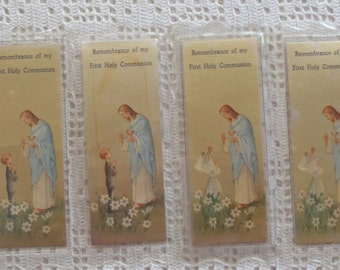 Vintage Bookmarks Remembrance of My First Holy Communion 4 Pc.