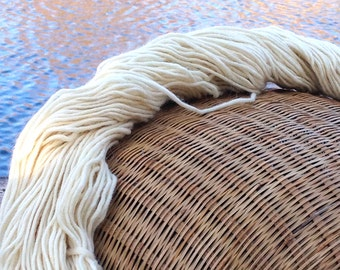 Merino wool yarn, worsted weight, 170 yards and 3.75 ounces, 106 grams