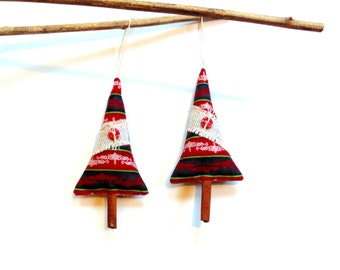 Festive cinnamon stick trees, tree ornaments, tree sachet ornament gift under 10, holiday home decor, winter Christmas secret santa gift
