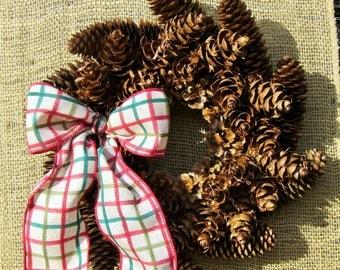 handmade PINECONE wreath 103