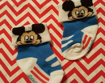 Mickey Mouse Tennis Shoes Footies