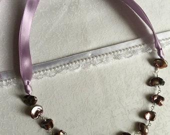Purple keishi necklace