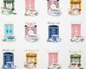 "High Tea Fabric 17 x 43"""