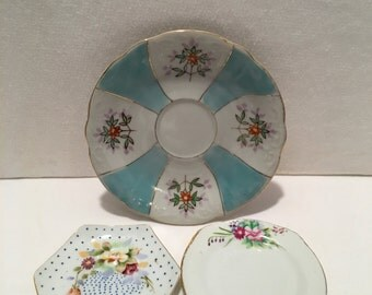 Vintage Collection of 3 Miniature China Plates Japan
