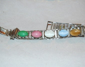 Vintage / Cabochon / Glass / Bracelet / Sarah Coventry / Signed / Designer  / jewellery / old / jewelry
