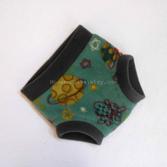 Large solar system anti pill soaker fleece fitted cloth diaper for Solar system fleece