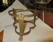 LARGE BRASS ornate     footed  Stand OR Bowl holder