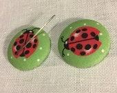 Choose One (1) Needle Minder-LADYBUGS-Cross Stitching-Cross Stitch-Embroidery-Hand Embroidery-Needlepoint