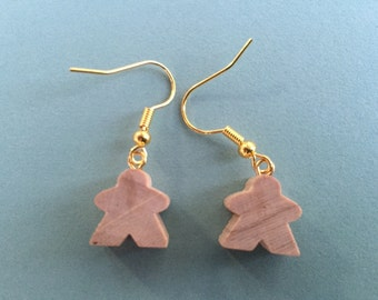 Mini Carcassonne Meeple Earrings