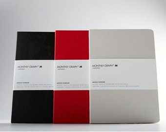 Monthly planner 3 colors