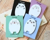 Moongs Sticky Memo Cartoon Lamb & Panda shapes sticky notes