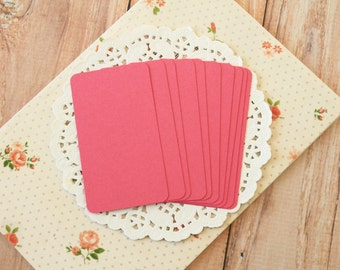 PUNCH Raspberry Pink 50pc handmade blank Business Cards
