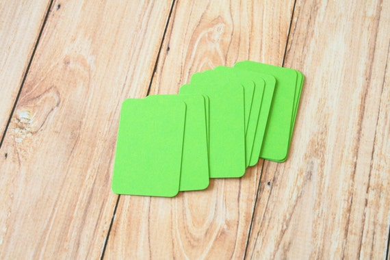 50pc LIME Green Eco Series Business Card Blanks