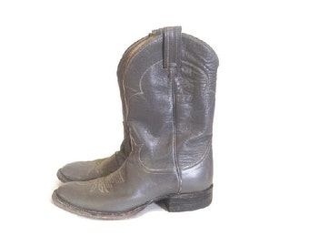 Vintage Tony Lama Boots, Western leather boots, cowboy Boots, womens size 8 / 9