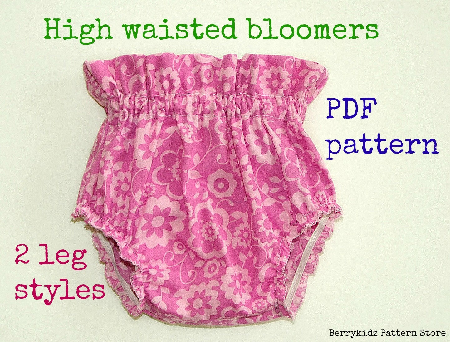 High waisted baby bloomer pattern Baby diaper cover pattern