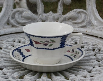 Lancaster Cup and Saucer by Adams Real English Ironstone, Made in England, Vintage Teacup