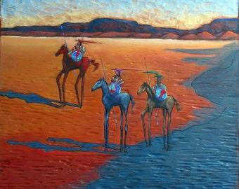 "southwest style - "" War Party"" -wall art - decorative artwork - giclee print"