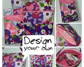 Design Your Own Choose Any Fabric in My Shop or Online Spill Proof Interchangeable Knitting Case & Project Working Basket Purse
