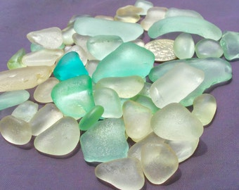Sea Glass or Beach Glass of Hawaii beaches  AQUA! OCEAN BLUE! Seafoam! Sale! 35 dollars Authentic Sea glass! Bulk Sea Glass! Mosaic Tiles!
