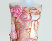 Large Coral Scarf - Sunset - Cotton Wrap - Hand made - Australia
