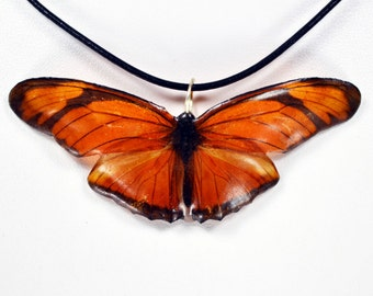 Real Butterfly Necklace - Julia Butterfly - Hand Cast Resin
