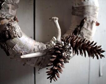 Birch Antler Wreath - Christmas Wreath - Wreath - Christmas - Birch Wreath