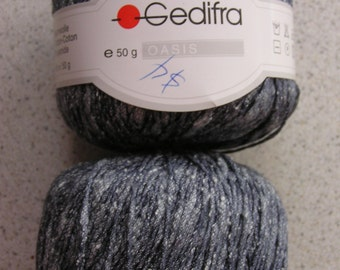 DISCONTINUED Gedifra 'Oasis'Yarn - 2 Skeins Color 1293 'Slate' - FREE SHIPPING!