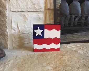 American Flag for table, mantle, desk, shelf decoration