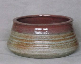 Red and Tan Bowl