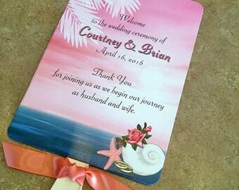 Beach Wedding Fan - Ceremony Fans