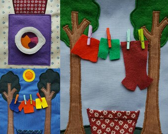 Personalised Fabric Activity/Quiet book