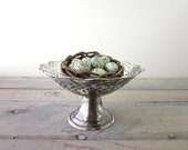 Vintage Silver Plate Compote Footed Bowl Pedestal