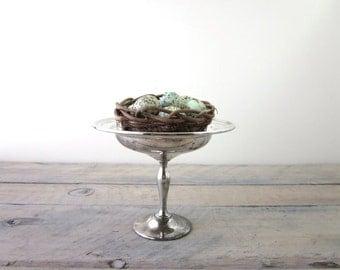 Vintage Silver Plate Compote Footed Bowl Pedestal Gorham