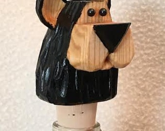 Bear Head Bottle Stopper Custom Carved Wine Stopper Hand Carved Gift For Dad Gift For Mom Kitchen Decor Party Gift Wood Carvers of Etsy