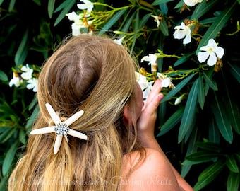 Starfish Hair Barrett- Starfish Hair Clip - Unique Stocking Stuffer - Beach Wedding Hair Accessory - Mermaid Starfish Clip -Beachy Chic Hair