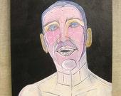 Surreal Male Portrait , Portrait Painting , Wil Shepherd , Portrait , Fine Art , Male Portraiture , Painting , Wil Shepherd Studio ,Original