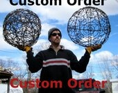 Custom Order Barbed Wire Wasp Nest, Immortal Wild Rose and Long-Legged Black Spider
